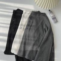 Wool knitwear Spring 2021 Average size Black, gray, white Long sleeves singleton  Socket cotton 51% (inclusive) - 70% (inclusive) Regular routine commute easy routine Solid color Single breasted Korean version 18-24 years old Button