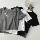 T-shirt Black, gray, white Average size Spring 2021 Short sleeve other Self cultivation have cash less than that is registered in the accounts routine commute cotton 96% and above 18-24 years old Korean version classic printing