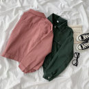short coat Spring 2021 S,M,L Army green, lotus root pink Long sleeves routine routine singleton  easy commute routine Polo collar Single breasted Solid color 18-24 years old 96% and above Pocket, button cotton cotton