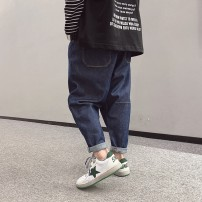 trousers Other / other male 120cm / 120, 130cm / 130, 140cm / 140, 150cm / 150, 160cm / 160, 170cm / 170 Deep denim, deep denim reservation spring and autumn trousers Simplicity There are models in the real shooting Jeans Leather belt middle-waisted Cotton elastic denim Don't open the crotch -- --