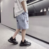 trousers Other / other male 120cm / 120, 130cm / 130, 140cm / 140, 150cm / 150, 160cm / 160, 170cm / 170 Light denim, light denim reservation summer Pant personality There are models in the real shooting Jeans Leather belt middle-waisted Denim Don't open the crotch Other 100% -- --