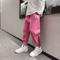 trousers Other / other male 110cm / 110, 120cm / 120, 130cm / 130, 140cm / 140, 150cm / 150, 160cm / 160, 170cm / 170 Black, grey, rose pink, rose pink reservation, black reservation, grey reservation spring and autumn trousers motion There are models in the real shooting Sports pants Leather belt --