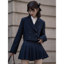 Fashion suit Autumn 2020 S, M Army green suit, army green pleated skirt, navy blue suit, navy blue pleated skirt 18-25 years old LOVEHEYNEW Xce18n-6880 + 6883 girls' Party suit 71% (inclusive) - 80% (inclusive) polyester fiber