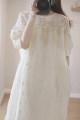 Dress Summer 2020 Beige Average size Loose waist More than 95% cotton