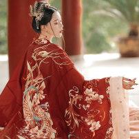 Hanfu 91% (inclusive) - 95% (inclusive) Summer 2020 Koi Top + skirt + sling, Koi outer sleeve, Koi inner sleeve, Koi full set deposit (no refund) polyester fiber
