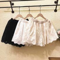 Casual pants White, black, apricot Average size Summer 2021 shorts loose  Natural waist Sweet 81% (inclusive) - 90% (inclusive) cotton pocket cotton