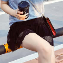 underpants female black Suitable for hip circumference 84-116cm Flattering power 1 silk middle-waisted Solid color