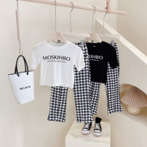 suit Other / other female summer Korean version Short sleeve + pants 2 pieces Thin money No model Socket nothing houndstooth  cotton children Giving presents at school Class B Other 100% Chinese Mainland Zhejiang Province Hangzhou
