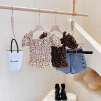 T-shirt Other / other Hang tag 5 / 100, recommended height 90cm, hang tag 7 / 110, recommended height 100cm, hang tag 9 / 120, recommended height 110cm, hang tag 11 / 130, recommended height 120cm, hang tag 13 / 140, recommended height 130cm female summer Short sleeve other Korean version No model