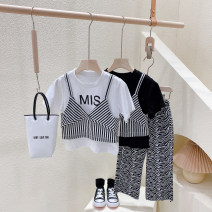 T-shirt White ~, black~ Other / other Hang tag 5 / 100, recommended height 90cm, hang tag 7 / 110, recommended height 100cm, hang tag 9 / 120, recommended height 110cm, hang tag 11 / 130, recommended height 120cm, hang tag 13 / 140, recommended height 130cm female Crew neck Korean version No model