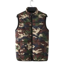 Vest / vest Fashion City Vast sky / haofei S,M,L,XL,2XL,3XL camouflage Other leisure standard Vest routine autumn stand collar 2020 Basic public camouflage zipper silk floss
