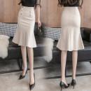 skirt Spring 2021 XS,S,M,L,XL,2XL,3XL,4XL,5XL Khaki, apricot, black Mid length dress Versatile High waist Ruffle Skirt Solid color Type X AA1080 51% (inclusive) - 70% (inclusive) brocade cotton Ruffles, buttons, zippers, resin fixation 401g / m ^ 2 (inclusive) - 500g / m ^ 2 (inclusive)