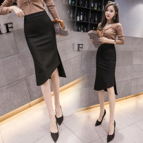 skirt Summer 2020 S,M,L,XL,2XL black Mid length dress Versatile Natural waist skirt Solid color Type H 25-29 years old 870# 51% (inclusive) - 70% (inclusive) other Other / other cotton Asymmetry 401g / m ^ 2 (inclusive) - 500g / m ^ 2 (inclusive)