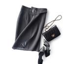 skirt Autumn 2020 S,M,L,XL grey Mid length dress commute Natural waist skirt Solid color Type H 71% (inclusive) - 80% (inclusive) polyester fiber Simplicity