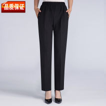 Middle aged and old women's wear trousers Fall 2018 Intellectuality Straight tube other Polyester, others 40-49 years old moderate trousers 219,220 XL (2-2-2), 2XL (2-3-2-4), 3XL (2-5-2-6), 4XL (2-7-2-8), 5XL (2-9-3-2)