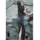 cheongsam Spring 2021 M,L,XL,XXL,XXXL honeysuckle Short sleeve long cheongsam Retro High slit daily Oblique lapel Solid color 18-25 years old Piping other