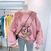 Sweater / sweater Spring 2020 Ginger, blue, skin pink, brick, beige Average size Long sleeves routine Socket singleton  routine Crew neck easy commute routine 81% (inclusive) - 90% (inclusive) Korean version cotton printing cotton