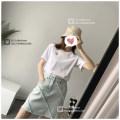 skirt Summer 2020 S,M,L,XL Black, old blue Short skirt commute High waist Solid color Type A 71% (inclusive) - 80% (inclusive) Denim cotton Fringes, make old