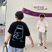 T-shirt White, black Other / other 130, 140, 150, 160, 170 male summer Short sleeve Crew neck Korean version There are models in the real shooting nothing cotton other Cotton 95% other 5% Class B other 7, 8, 14, 6, 13, 11, 5, 10, 9, 12 Chinese Mainland Guangdong Province Guangzhou City