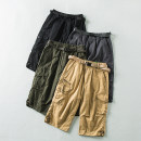 Casual pants Others Fashion City Black, gray, army green, yellow M,L,XL,2XL,3XL,4XL,5XL Cropped Trousers Other leisure Straight cylinder