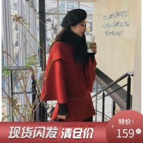 Fashion suit Winter of 2018 S code (spot), M code (spot), l code (spot) 90105 Cape series - red top, 90105 Cape series - red skirt, 90105 Cape series - red suit, 90105 Cape series - black top, 90105 Cape series - black skirt, 90105 Cape series - black suit Other / other SS81960 wool