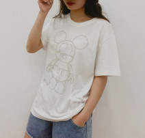 T-shirt Black, white Average size Summer 2021 Crew neck Straight cylinder routine other 30% and below Cartoon animation D.SIXTH