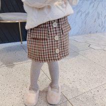 skirt Other / other female Cotton 85% others 15% winter skirt college lattice A-line skirt blending Class B