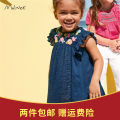 Dress female jumping beans 90cm,100cm,110cm,120cm,130cm,140cm Cotton 100% summer lady Skirt / vest Broken flowers cotton A-line skirt Class A 12 months, 9 months, 18 months, 2 years old, 3 years old, 4 years old, 5 years old, 6 years old, 7 years old, 8 years old Chinese Mainland Guangdong Province