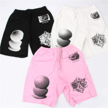 Casual pants UNHS CLOTHING UH Youth fashion Black, white, pink S,M,L,XL Pant Other leisure easy