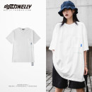 T-shirt Youth fashion white routine M,L,XL LAY LOW Short sleeve Crew neck standard Other leisure summer Cotton 100% teenagers routine Hip hop 2021 other cotton Designer brand