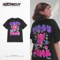 T-shirt Youth fashion black routine S,M,L,XL,2XL,3XL HEYBIG Short sleeve Crew neck easy Home summer THDX6561AX Cotton 100% teenagers routine Hip hop 2021 printing Designer brand