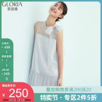 Dress Summer 2020 31b cloud ash XS S M L XL Mid length dress singleton  Sleeveless commute other 25-29 years old Type A Gloria / golia lady 104R4K150 More than 95% nylon Polyamide fiber (nylon) 100% Same model in shopping mall (sold online and offline)