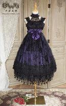 Lolita / soft girl / dress Boguta Cyanosis, dark green, purple L,M,S goods in stock