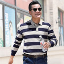 Polo shirt Other / other Fashion City routine L,XL,2XL easy Other leisure autumn Long sleeves routine middle age 2019 stripe