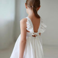 Dress white female Other / other 90cm,100cm,110cm,120cm,130cm,140cm,150cm Cotton 100% summer princess Skirt / vest cotton Lotus leaf edge S-108 Class B 2, 3, 4, 5, 6, 7, 8, 9, 10, 11, 12, 13, 14 years old Chinese Mainland Guangdong Province Guangzhou City