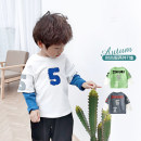 Sweater / sweater Taodou White, gray, green male 100cm,110cm,120cm,130cm,140cm spring and autumn nothing leisure time Socket routine No model cotton other Cotton 95% polyurethane elastic fiber (spandex) 5% WYTZA010 Cotton liner