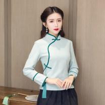 jacket Autumn of 2019 M,L,XL,XXL,XXXL Red, green, blue, red top + skirt, blue top + skirt, green top + skirt, red top + Black bib, red top + Black Bib + skirt 25-35 years old