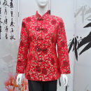 jacket Summer of 2018 L,XL,XXL,XXXL,4XL Red pomegranate flower Other / other Over 35 years old
