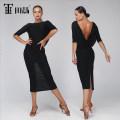Latin Dance Costume Tian Hui female M,S,L,XL black Long skirt Rumba, Chacha, samba, cowboy, bullfight TH-0312