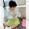 suit Little elephant Green, pink female spring and autumn princess Long sleeve + skirt 2 pieces routine There are models in the real shooting Socket nothing Solid color Two, three, four, five, six, seven, eight, nine