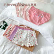 underpants other Other / other Flat angle, briefs S size is about 95-105cm, M size is about 105-115cm, L size is about 115-125cm, XL size is about 125-135cm, XXL size is about 135-145cm Other 100% Four seasons female 18 months, 2 years old, 3 years old, 4 years old, 5 years old, 6 years old