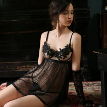 Fun pajamas Spandex, nylon Other / other Lace steel skirt K1088 # black (excluding gloves), k1088 # black (with lace gloves) Short skirt Average size