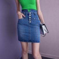 skirt Spring 2021 S (for 85-100), m (for 100-110), l (for 110-125) Blue reservation Short skirt street Natural waist Denim skirt Solid color Type A 35-39 years old 1HY21CQ209389M More than 95% Denim Origin norm cotton Europe and America