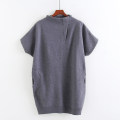 sweater Autumn of 2018 Average size grey Short sleeve Socket singleton  Medium length other 51% (inclusive) - 70% (inclusive) Half high collar Regular commute Solid color Allie Aixi pocket