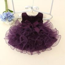 Children's dress Purple, pink, red, blue, white, rose female 80 (small), 90 (small), 100 (small), 110 (small), 120 (small) Princess after Princess full dress pure cotton Polyester 50% cotton 40% others 10% princess