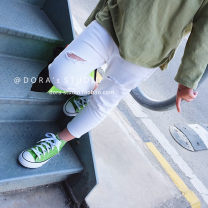 trousers Other / other neutral Beige Ninth pants leisure time There are models in the real shooting Jeans Leather belt Don't open the crotch other 2 years old, 3 years old, 4 years old, 5 years old, 6 years old, 7 years old