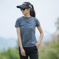 Quick drying T-shirt ..... female ... Nextour 101-200 yuan Short sleeve Summer 2020 Crew neck China Straight cylinder polyester fiber plain colour other