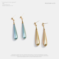 Earrings Alloy / silver / gold RMB 1.00-9.99 Western city brand new female Japan and South Korea goods in stock Fresh out of the oven Not inlaid Love / water drop / bell