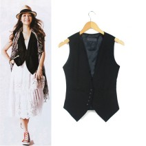 Vest Autumn of 2019 Western grey, classic black, tweed black S,M,L,XL,2XL,3XL,4XL,5XL have cash less than that is registered in the accounts V-neck commute Solid color Single breasted W160803 other 18-24 years old MMISS 31% (inclusive) - 50% (inclusive) cotton Patch, pocket, tie