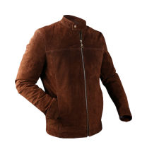 leather clothing Others Youth fashion brown M,L,XL,2XL,3XL routine Leather clothes stand collar Slim fit zipper winter pigskin